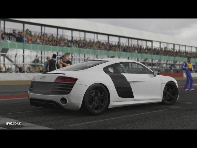 Tiff Needell and <em>Audi</em> R8 v Forza Motorsport 5 | evo TV