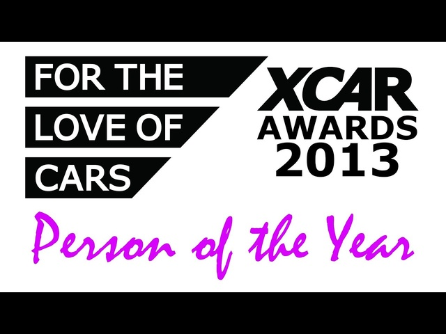 XCAR Awards 2013 - Person of the Year