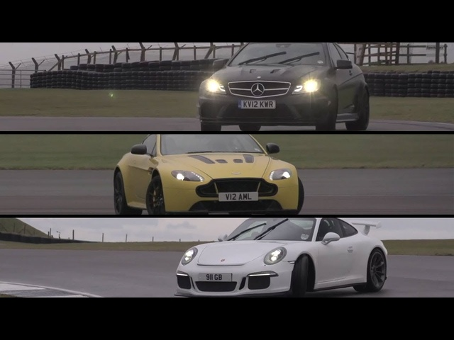 Porsche GT3, Aston Martin V12 Vantage S, <em>Mercedes</em> C63 AMG Black Series - /CHRIS HARRIS ON CARS