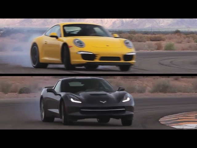 <em>Corvette</em> C7 v Porsche 991 Carrera S. On Track. - /CHRIS HARRIS ON CARS