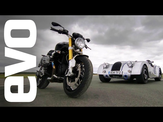 Morgan Plus 8 Speedster v <em>BMW</em> R Nine T | evo CAR v BIKE