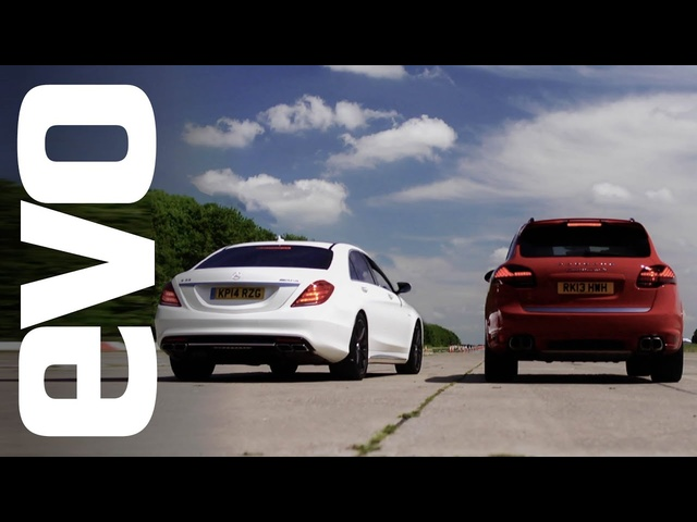 Porsche Cayenne Turbo S v <em>Mercedes</em> S63 AMG | evo DRAG BATTLE