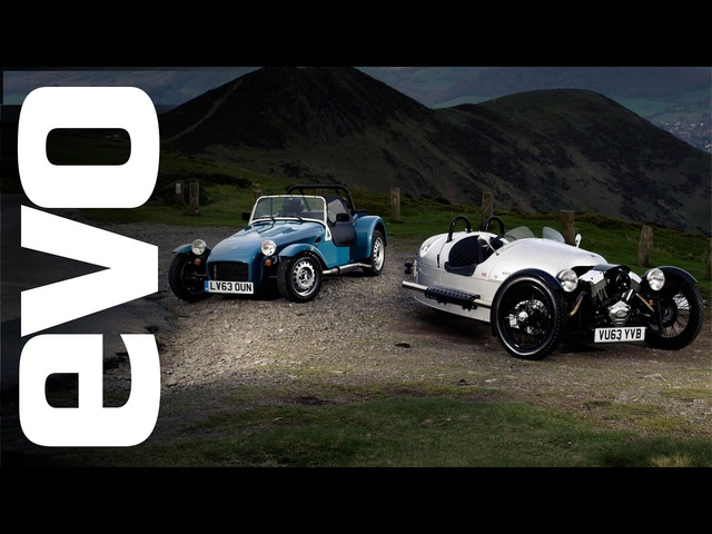 Caterham Seven 160 vs Morgan 3 Wheeler | evo TRACK BATTLE