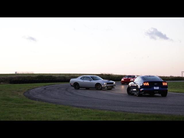 American Hustle| 2015 Chevrolet Camaro Z28 vs 2015 Dodge Challenger Hellcat vs 2015 <em>Ford</em> Mustang GT