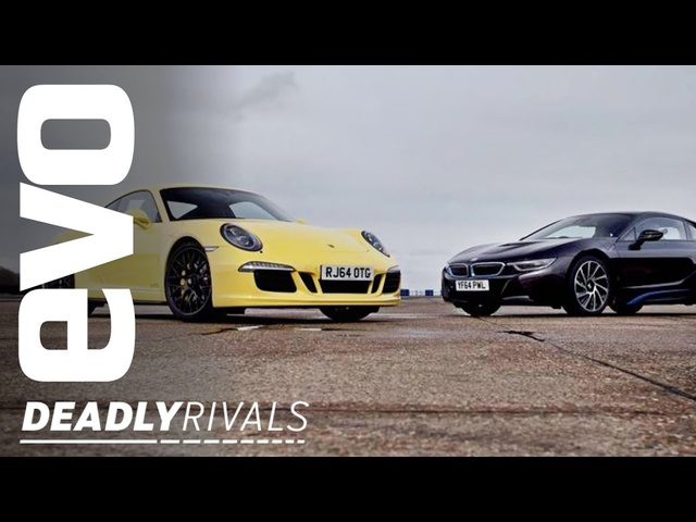 <em>BMW</em> i8 v Porsche 911 | evo DEADLY RIVALS