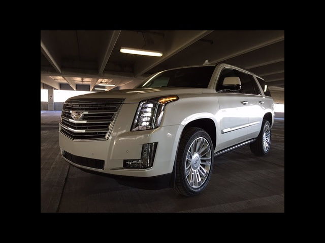 2015 Cadillac Escalade Platinum - TestDriveNow.com Review with Steve Hammes
