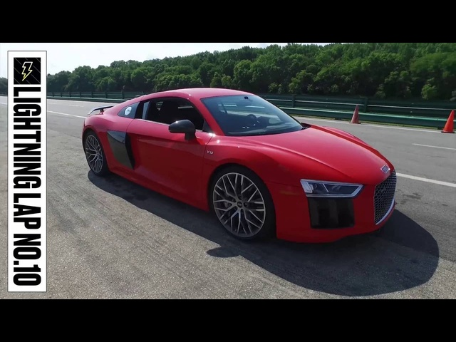 Audi R8 V10 Plus at Lightning Lap 2016