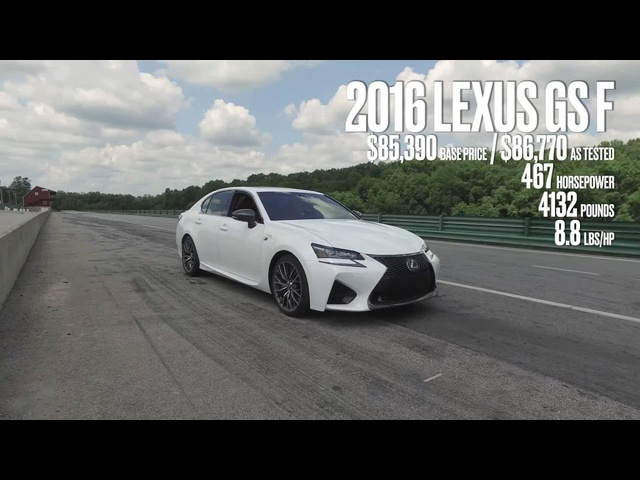 Lexus GS F at Lightning Lap 2016