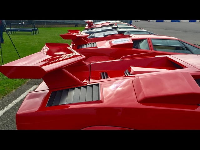 8 Lamborghini Countach on road and track