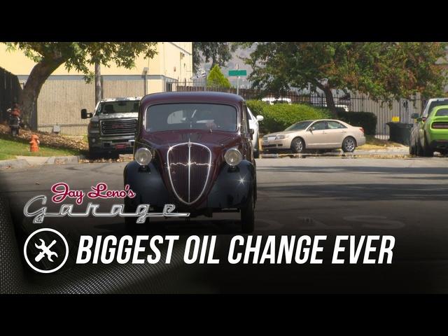 Biggest Oil Change Ever -Jay Leno's Garage
