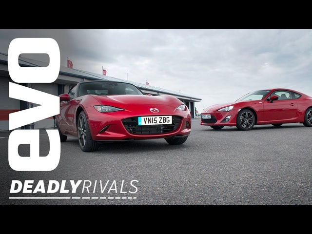 Toyota GT86 vs <em>Mazda</em> MX5 | evo DEADLY RIVALS