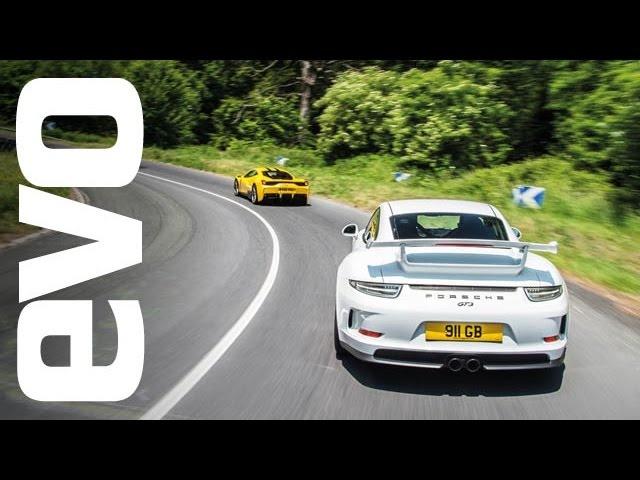 Le Mans road trip in a<em>Ferrari</em> 458 Speciale and Porsche 911 GT3 | evo GREAT DRIVES