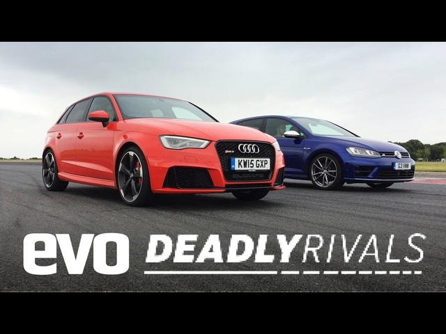 Audi RS3 vs <em>Volkswagen</em> Golf R | evo DEADLY RIVALS