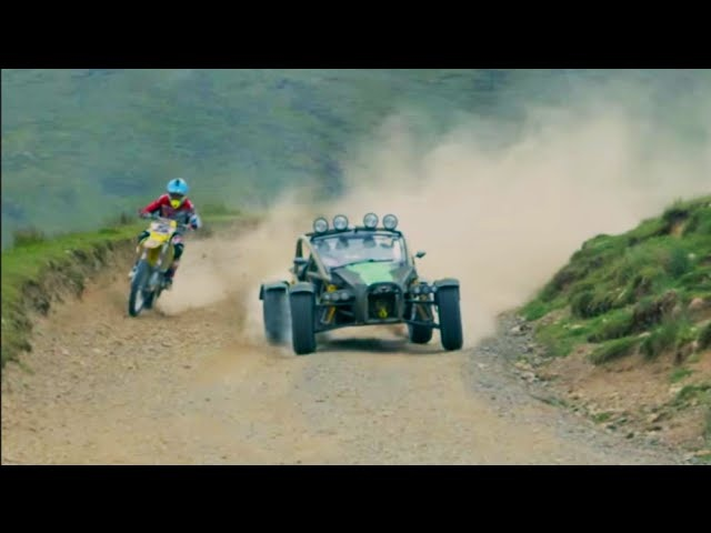 Bike vs Car: Ariel Nomad vs Suzuki, on DIRT - /SUTCLIFFE on CARS