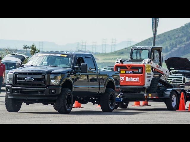 10,000-Pound Trailer-Tow Obstacle Course – Diesel Power Challenge 2016