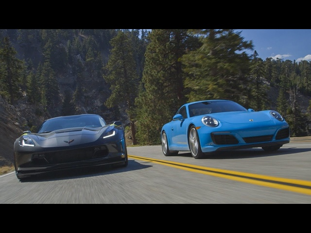 2017 Chevrolet Corvette Grand Sport vs. <em>Porsche</em> 911 Carrera S - Head 2 Head Ep. 82