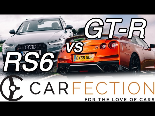 DRAG RACE: Audi RS6 v Nissan GT-R - Carfection