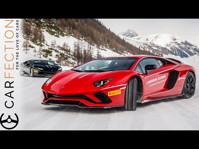 <em>Lamborghini</em> Aventador S: Sideways In The Snow - Carfection