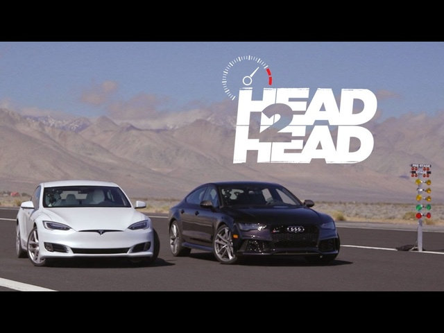 2017 <em>Tesla</em> Model S P100D vs. 2017 Audi RS7 Performance - Head 2 Head Ep. 88