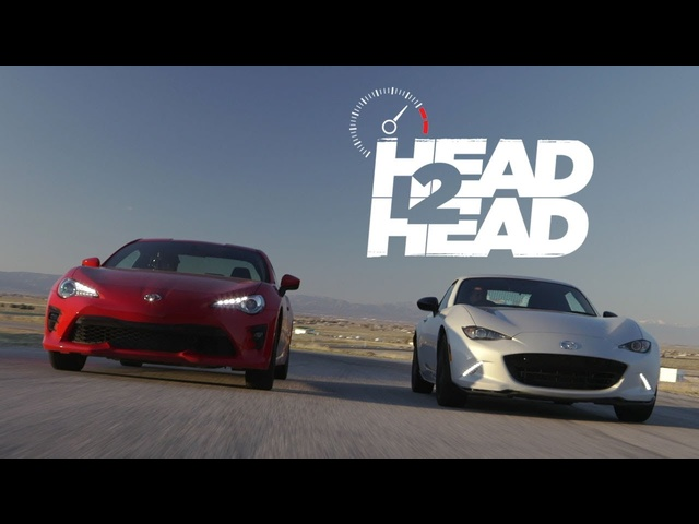 2017 <em>Mazda</em> MX-5 Miata RF vs. 2017 Toyota 86 -Head 2 Head Ep. 89