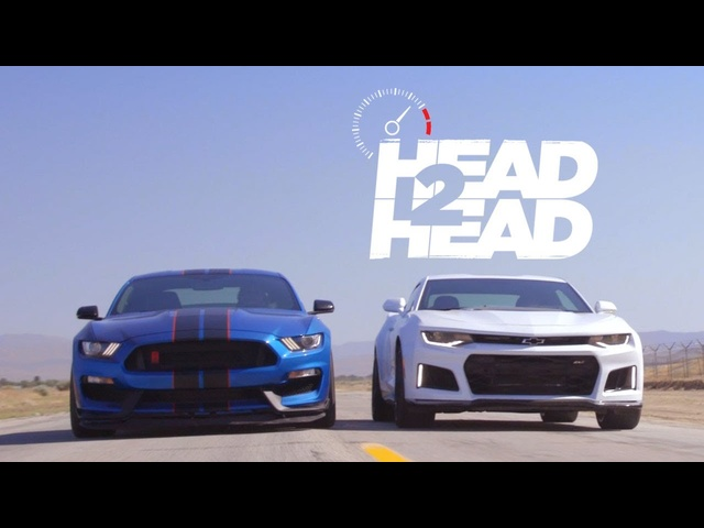 2017 Chevrolet Camaro ZL1 vs. 2017 <em>Ford</em> Shelby Mustang GT350R - Head 2 Head Ep. 90