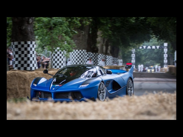 Ferrari FXXK flyby exhaust sound at Goodwood FOS 2017