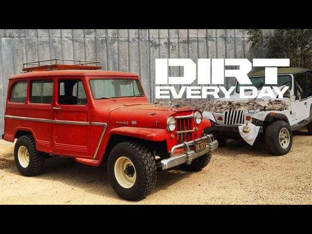 How to Swap a Barn-Find Willys Jeep Wagon Onto a Wrangler YJ Chassis - Dirt Every Day Ep. 66