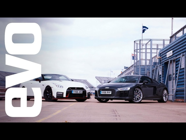<em>Audi</em> R8 v Nissan GT-R Nismo | evo Track Review
