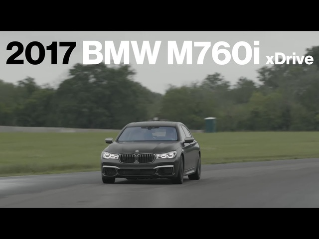 <em>BMW</em> M760i Hot Lap at VIR | Lightning Lap 2017 | Car and Driver