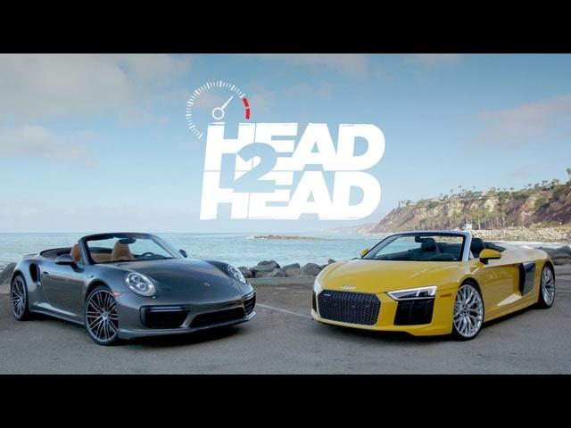 2017 Audi R8 V10 Spyder vs. 2017 <em>Porsche</em> Turbo Cabriolet -Head 2 Head Ep. 93