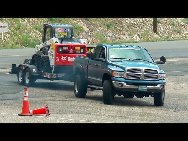 10,000-Pound Trailer-Tow Obstacle Course - Diesel Power Challenge 2017