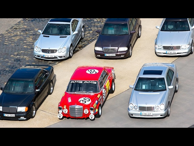 AMG 50th Anniversary Video Part 1 of 2 AMG Past Models Driving Video 2017