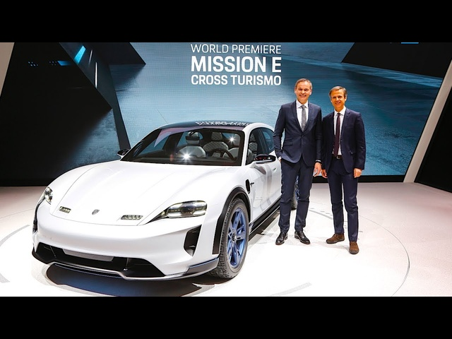 <em>Porsche</em> Mission E Cross Turismo LIVE World Premiere REVIEW 2019 Geneva 2018 CARJAM TV