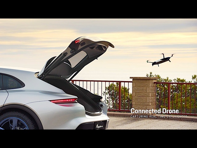 Porsche Mission E Autonomous DRONE DEMO Video Porsche Mission E Cross Turismo Geneva 2018 CARJAM