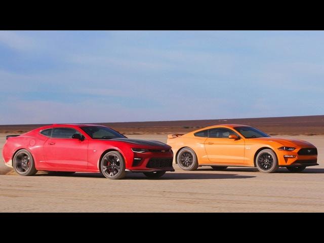 Desert Drag Race! Mustang GT vs Camaro SS 1LE -Head 2 Head Preview Ep. 98