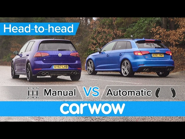 VW Golf R vs <em>Audi</em> S3 manual vs automatic DRAG RACE - what difference does the gearbox make?