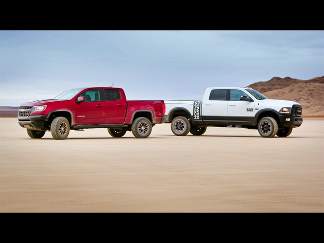 Chevy Colorado ZR2 vs <em>Dodge</em> Ram Powerwagon - Head 2 Head Preview Ep 99