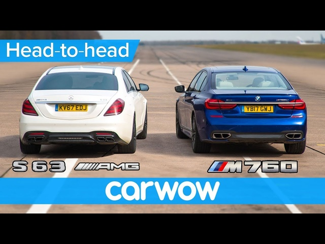 <em>Mercedes</em>-AMG S63 vs BMW M760 - DRAG RACE, ROLLING RACE & BRAKE TEST | Head-to-Head