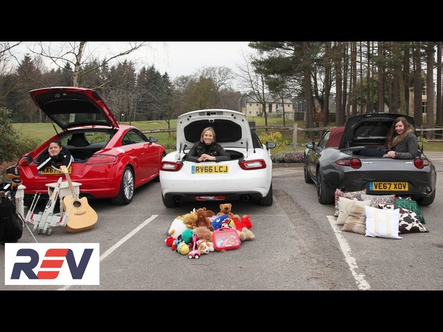 The REV Test: Small sports cars. Audi TT vs Fiat 124 Spider vsMazda MX-5.