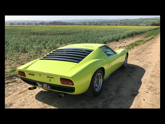 Lamborghini Miura history and drive review. Mega sound!