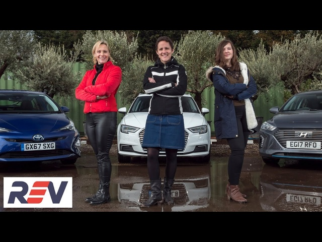 The REV Test: Hybrid cars. Audi E-Tron vs Hyundai Ioniq vs Toyota Prius