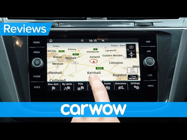 <em>Volkswagen</em> Tiguan Allspace SUV 2018 infotainment and interior review | Mat Watson Reviews