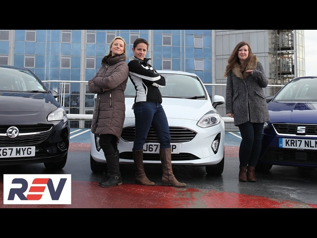 The REV Test: Small hatchbacks. <em>Ford</em> Fiesta vs Seat Ibiza vs Vauxhall Corsa.