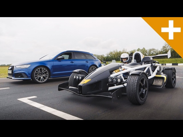 <em>Audi</em> RS6 vs Ariel Atom Drag Race - Carfection +