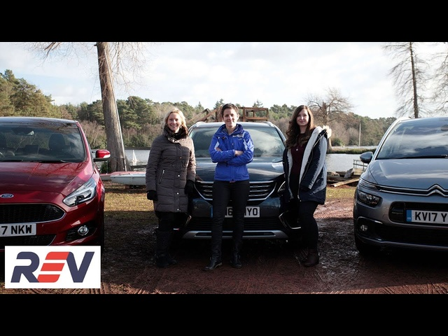 The REV Test: Seven Seater cars. Citroen Grand C4 Picasso vs <em>Ford</em> S-Max vs Peugeot 5008