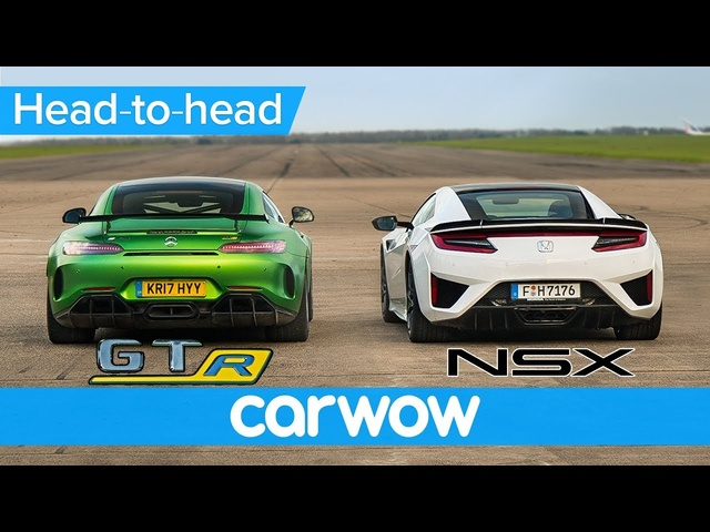 <em>Honda</em> (Acura) NSX vs Mercedes-AMG GT R – DRAG RACE, ROLLING RACE & BRAKE TEST | Head-to-Head