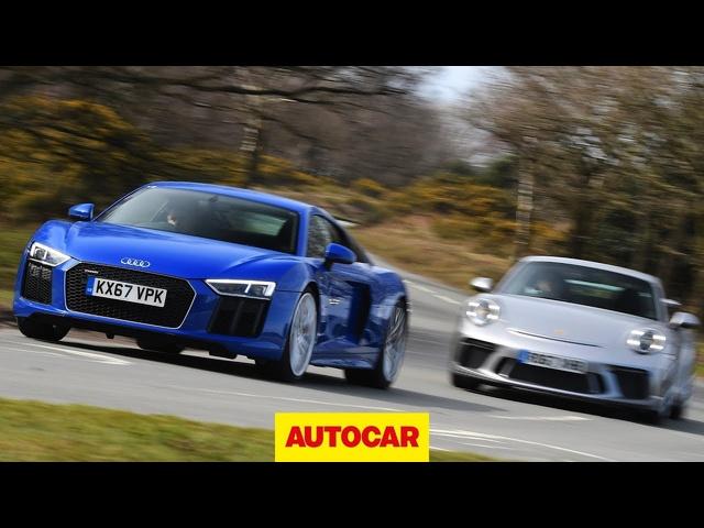 <em>Audi</em> R8 RWS V10 vs Porsche 911 GT3 -2018 review | Autocar