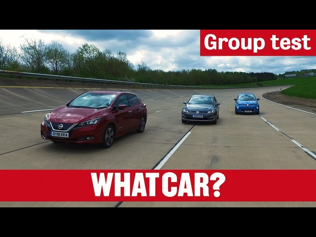 Nissan Leaf vs Volkswagen e-Golf vs <em>Renault</em> Zoe – what's the best electric car in 2018? | What Car?