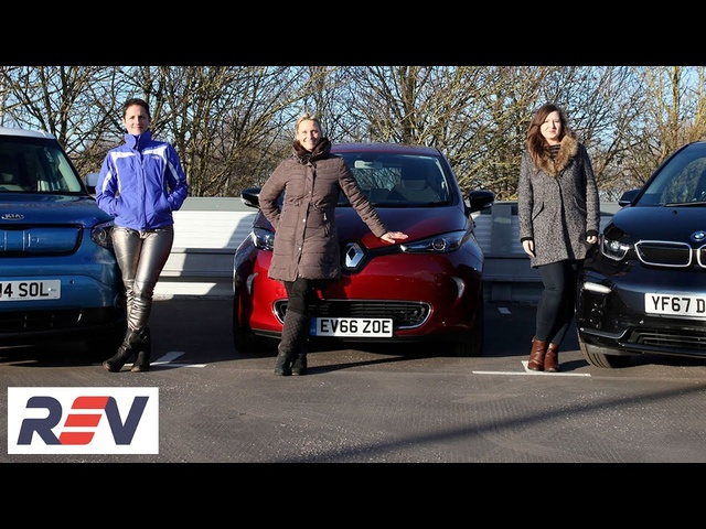 The REV Test: Electric cars. BMW i3s vs Kia Soul EV vs <em>Renault</em> Zoe