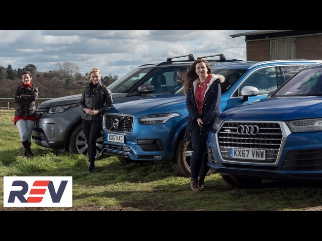 The REV test: Luxury SUVs. <em>Audi</em> Q7 vs Land Rover Discovery vs Volvo XC90